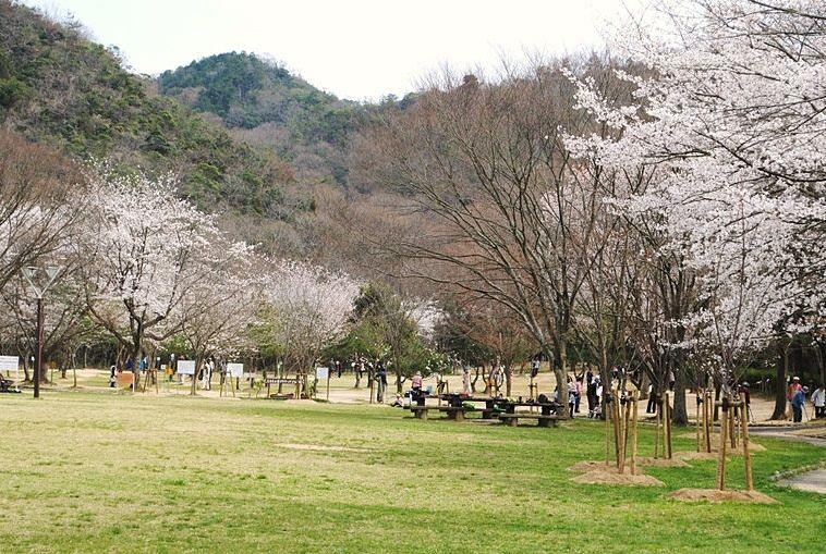 加古川右岸自転車道の終着点、志方東公園。