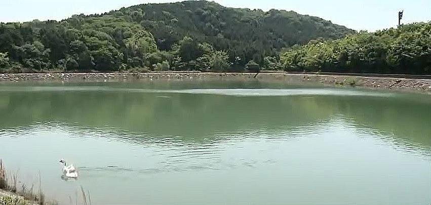 宮山の周りに点在する、ため池
