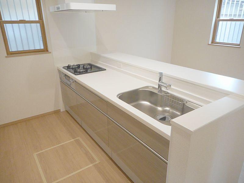 加古川市神野町石守513-86新築一戸建のシステムキッチン、カウンターキッチン、オープンキッチン