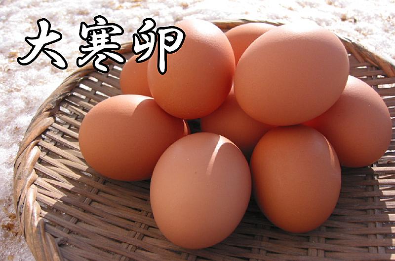 大寒の日に是非食べていただきたい大寒卵