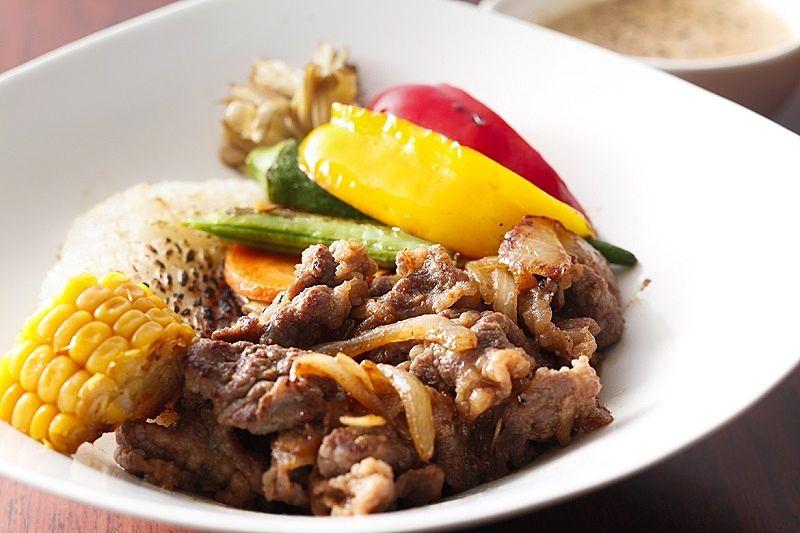 やさしい男の料理『ひなた』さん『加古川ギュッとメシ』野菜たっぷり!漬け肉クリームリゾット