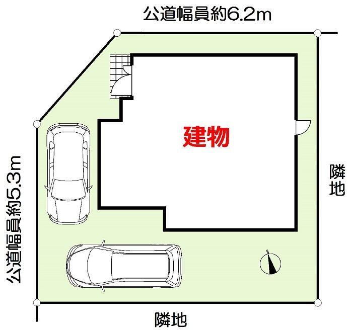 加古川市野口町長砂新築一戸建て第12の配置図です
