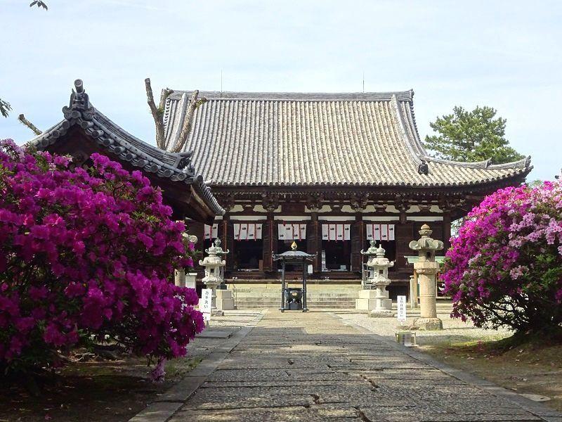 令和元年5月8日に花まつりが行なわれる鶴林寺です