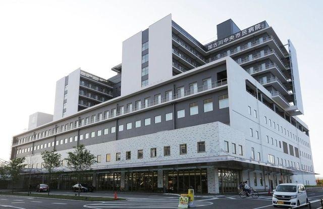 加古川中央市民病院の外観です
