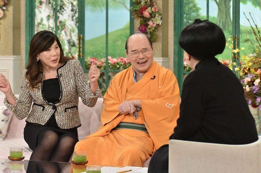 哲子の部屋に出演された林家こん平さんと、笠井 咲さん