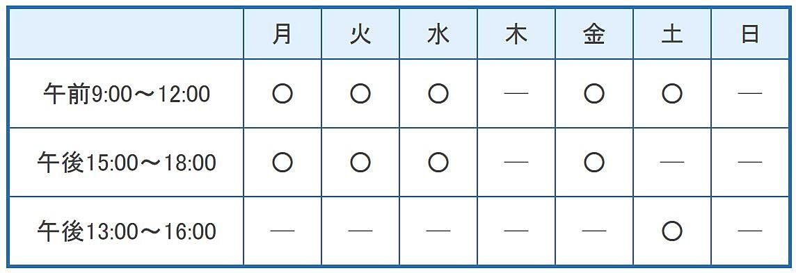 関島産婦人科医院の診療時間