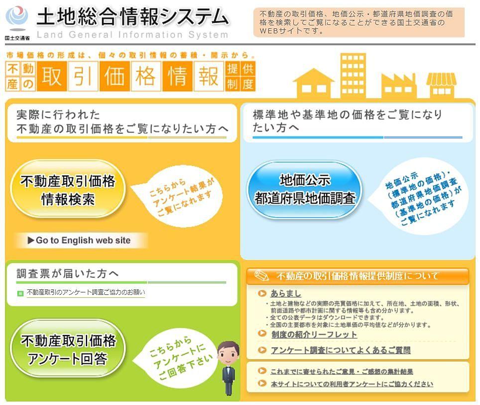 土地総合情報システム【国土交通省】