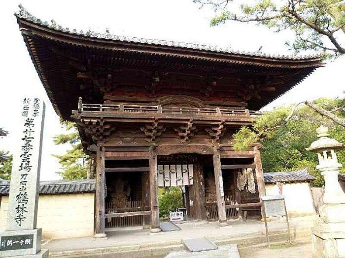 室町時代に建てられた仁王門です。