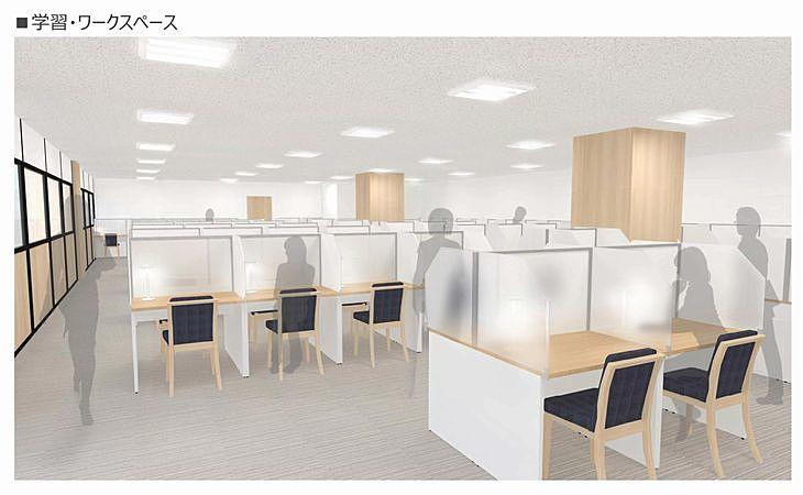新しい加古川図書館の学習・ワークスペース