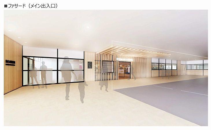 新しい加古川図書館のファサード(メイン入り口)