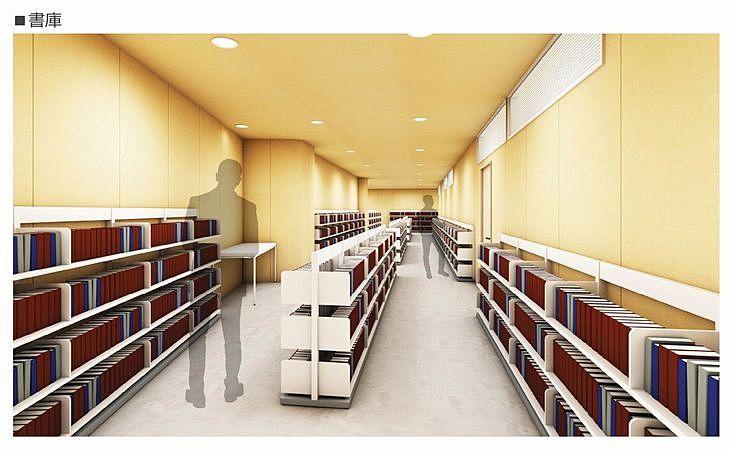 新しい加古川図書館の書庫