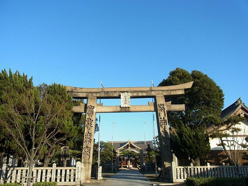 住吉神社の石造りの鳥居