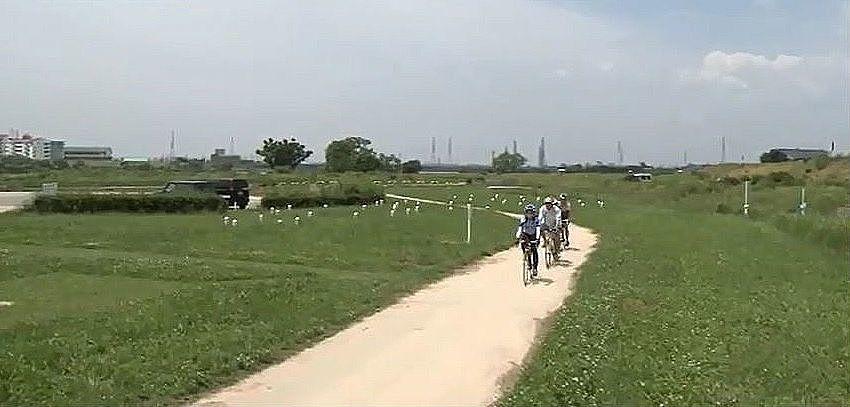 加古川の自然を眺めながらサイクリングが楽しめる加古川右岸自転車道