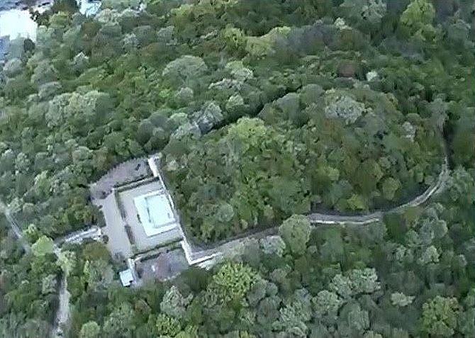 大小30基近い古墳が確認された、日岡山古墳群